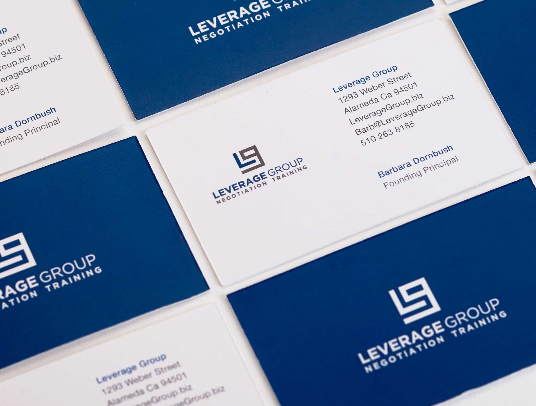 Brandora Collective corporate identity design for Leverage Group